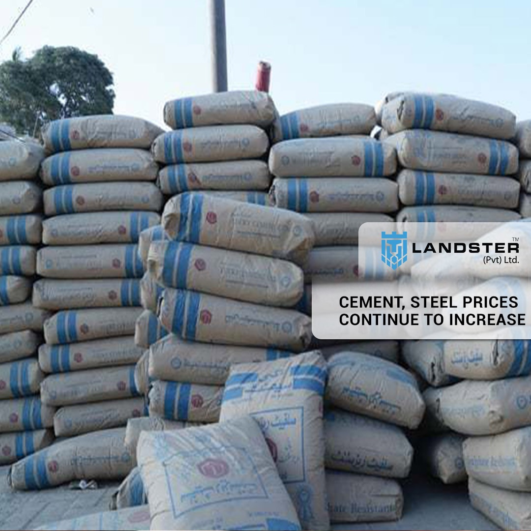 Cement and steel prices