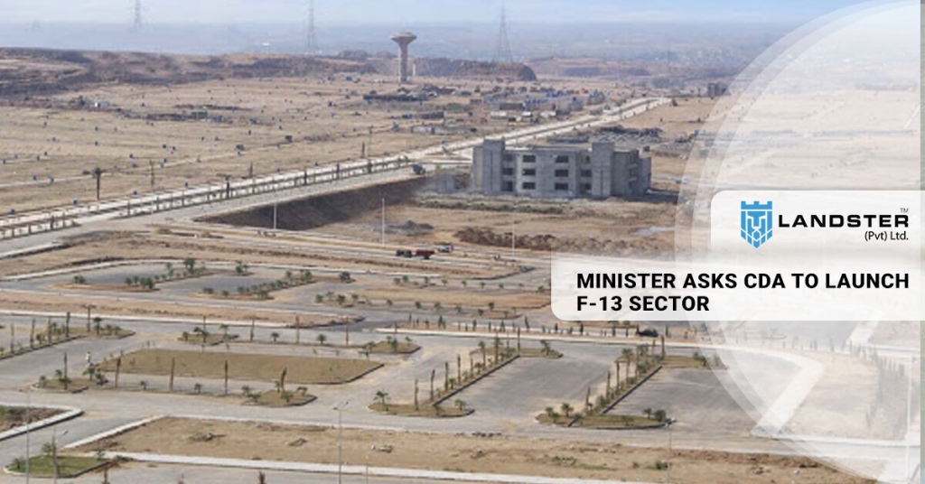 CDA TO LAUNCH F-13 sector Islamabad