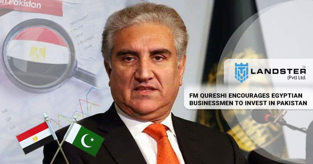 FM Qureshi Encourages Egyptian Businessmen To Invest In Pakistan