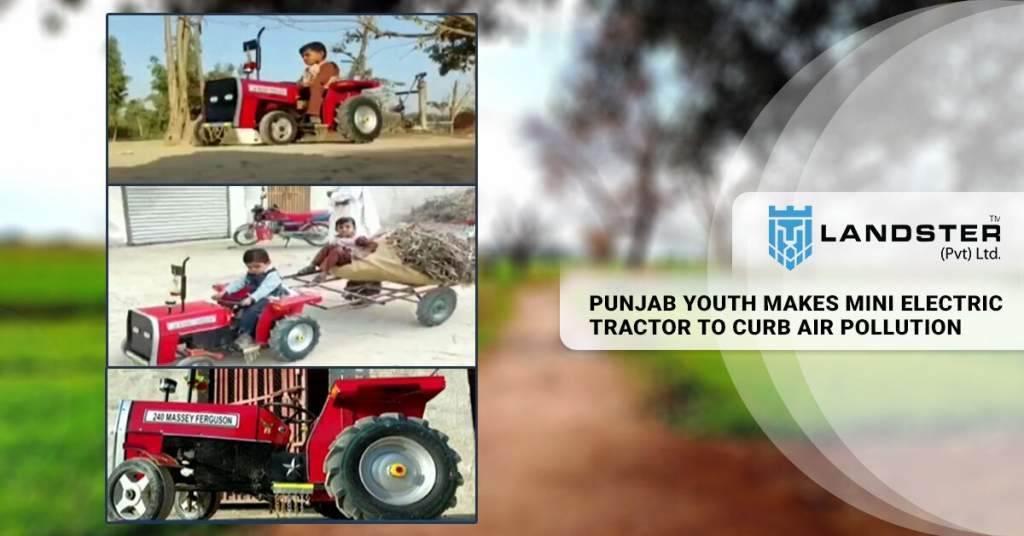 mini electric tractor to curb air pollution